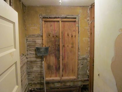 Aha! There USED to be a window there afterall! But no insulation....explained alot
